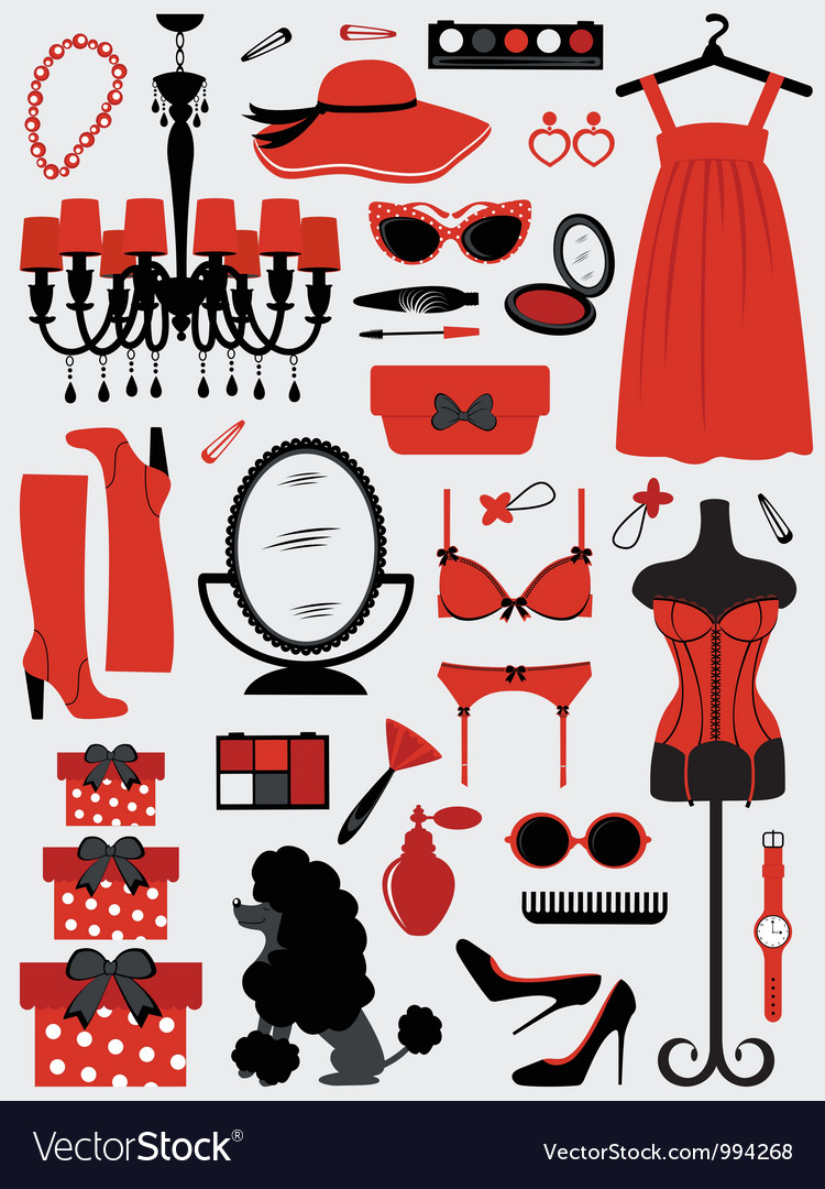Fashion stuff vector