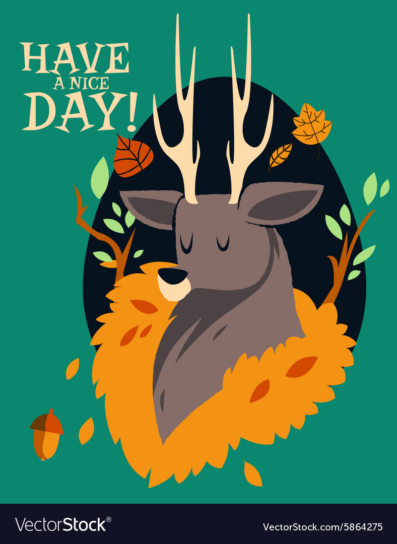 Cartoon deer flat design