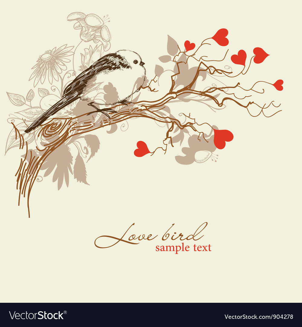 Cute love bird vector