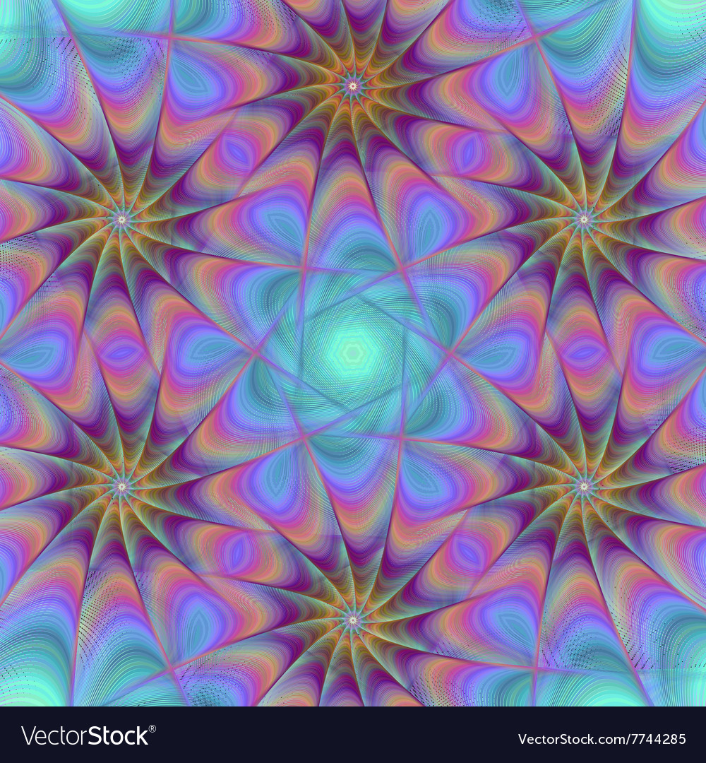 Abstract fractal star pattern design background