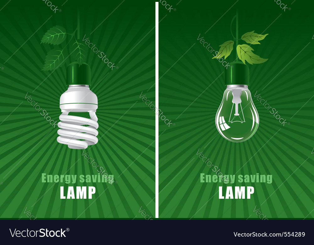 Ecological lightbulbs set concept vector