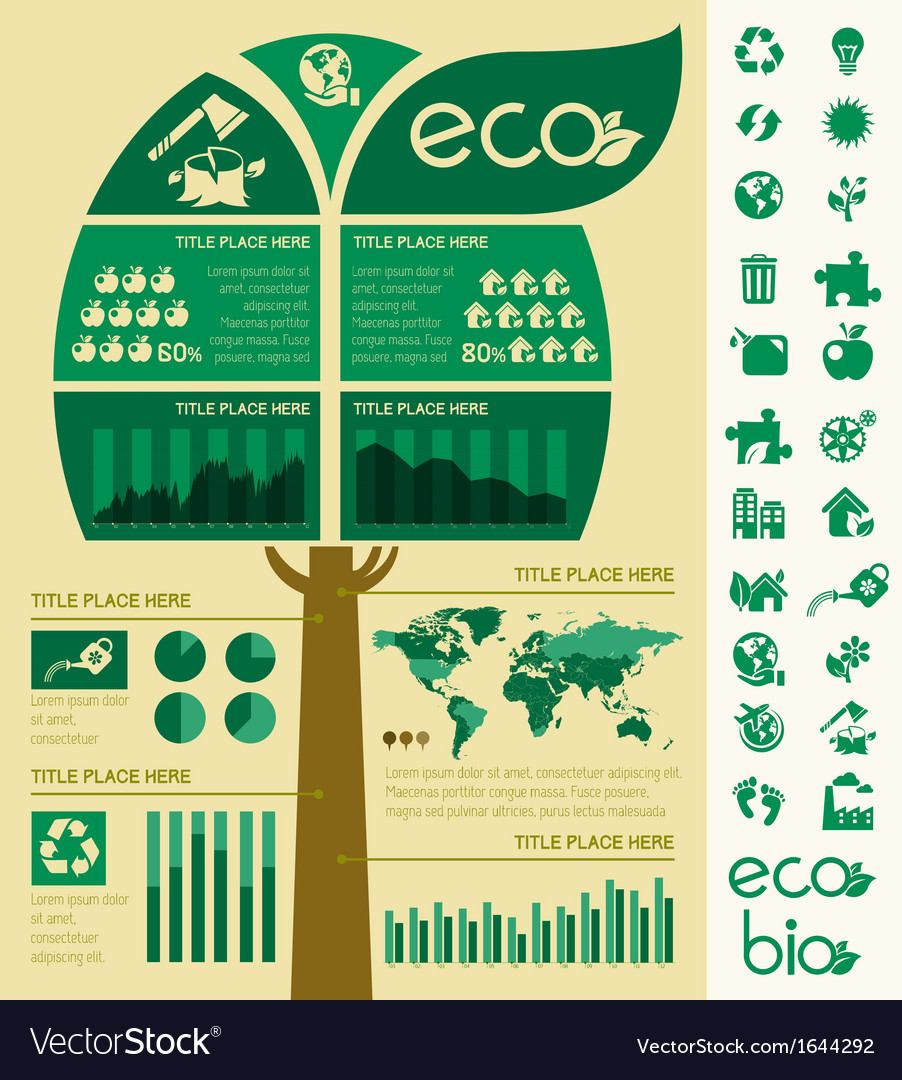Infographic Ideas infographic template : Ecology infographic template vector by RAStudio - Image #1644292 ...