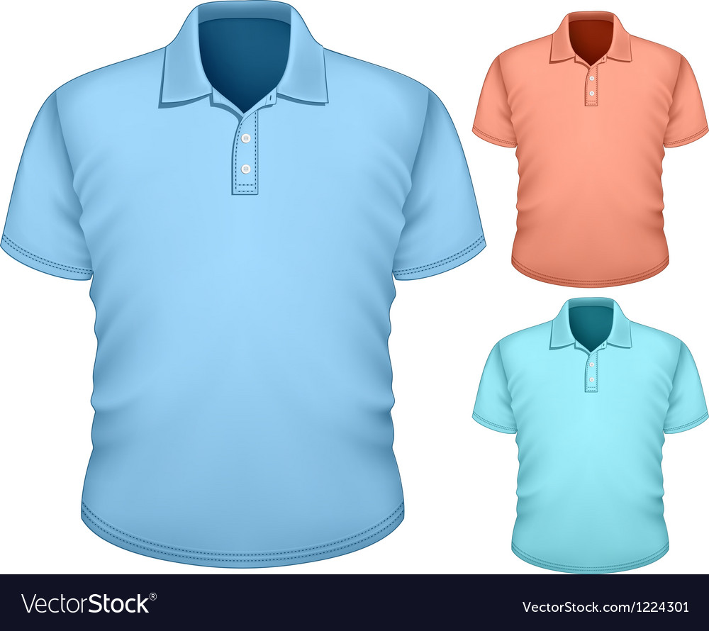 Mens poloshirt design template vector