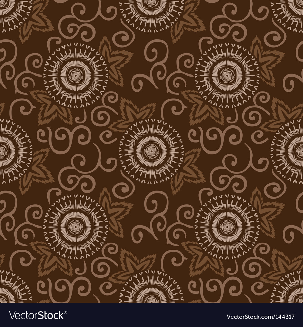 Decorative circles pattern vector