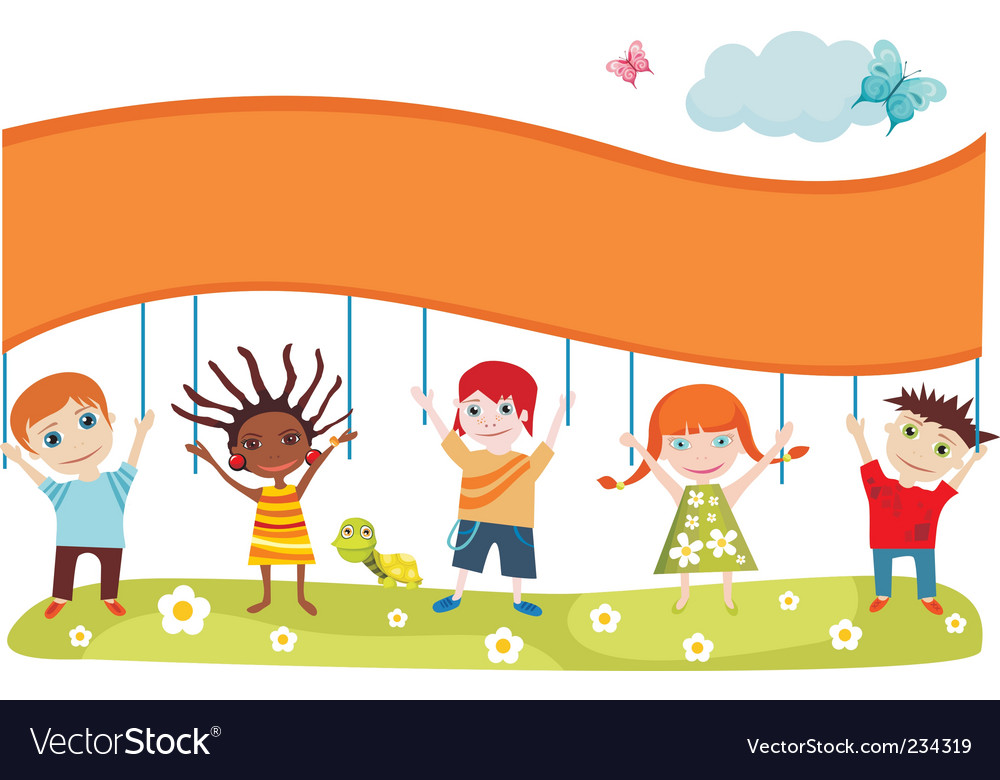 Childrens card vector