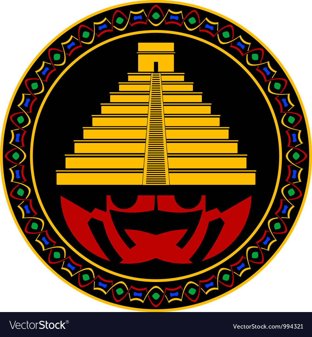 Ancient maya pyramid vector