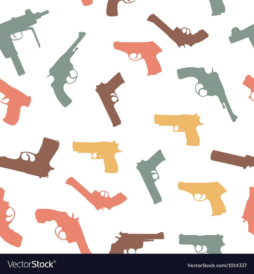 Guns set seamless pattern vector
