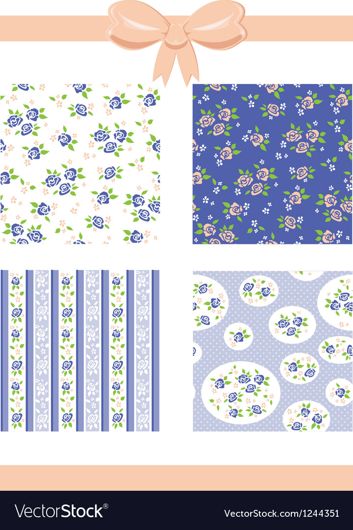 Roses patterns vector