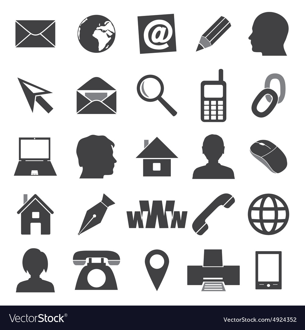 Simple icons for business card and everyday use vector by martin951