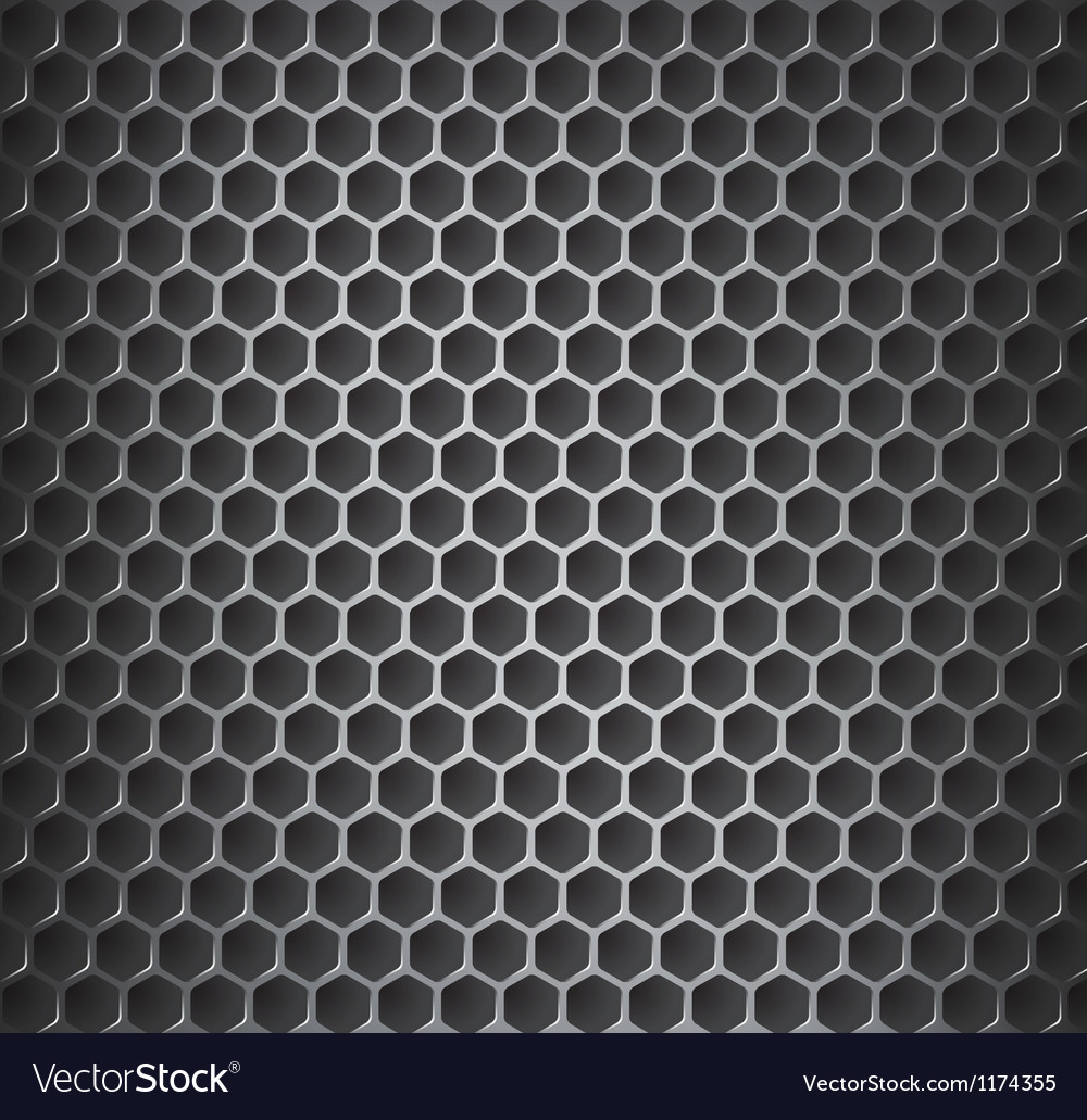 Chrome metal grid vector