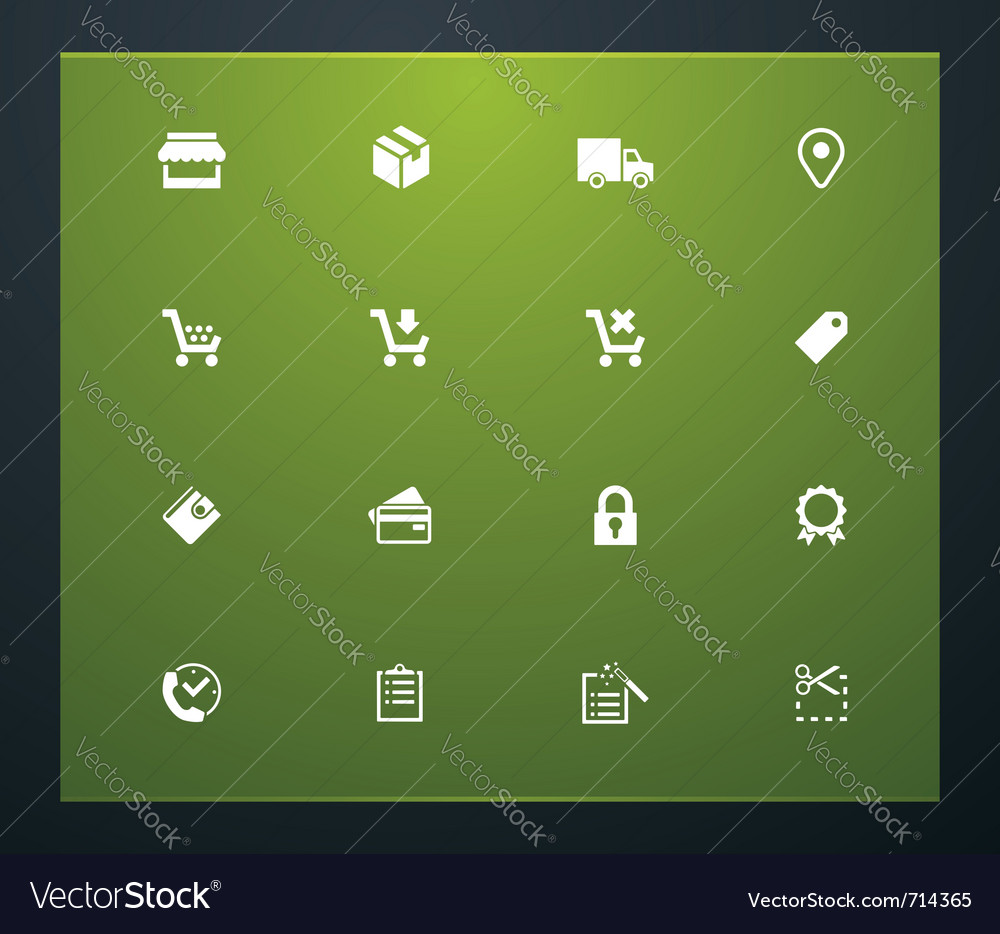 Shopping related pictograms vector