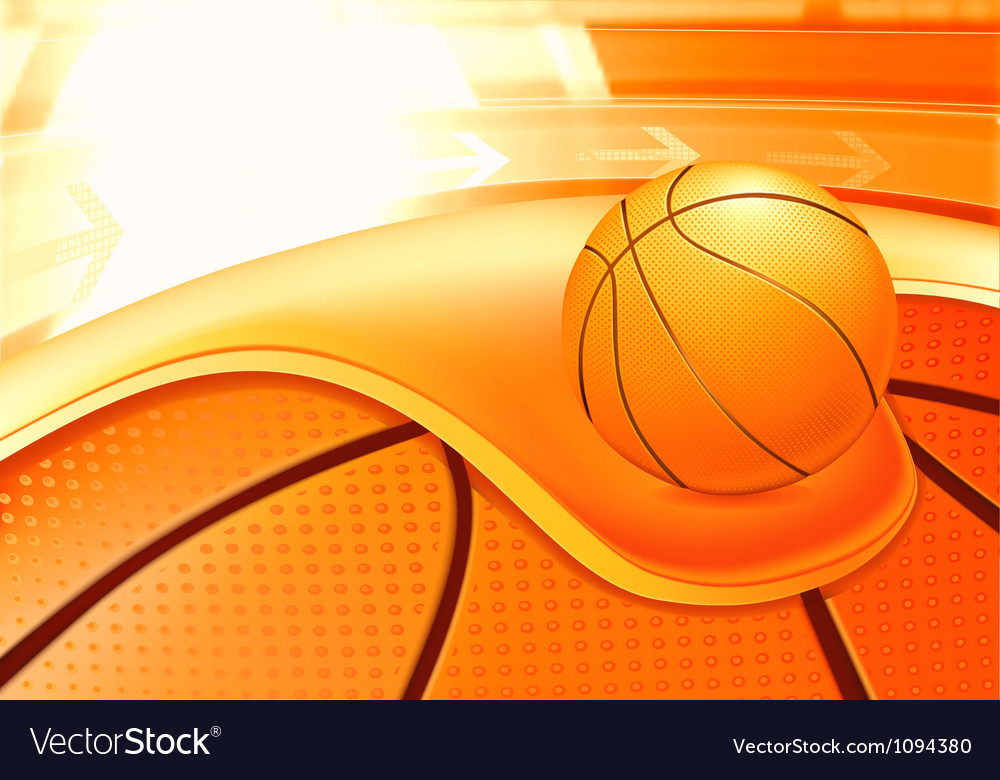 Sports background basketball vector