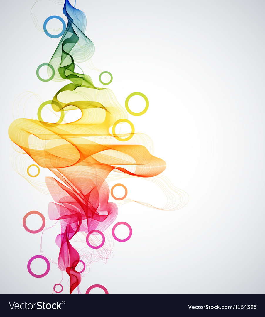 Abstract color wave vector