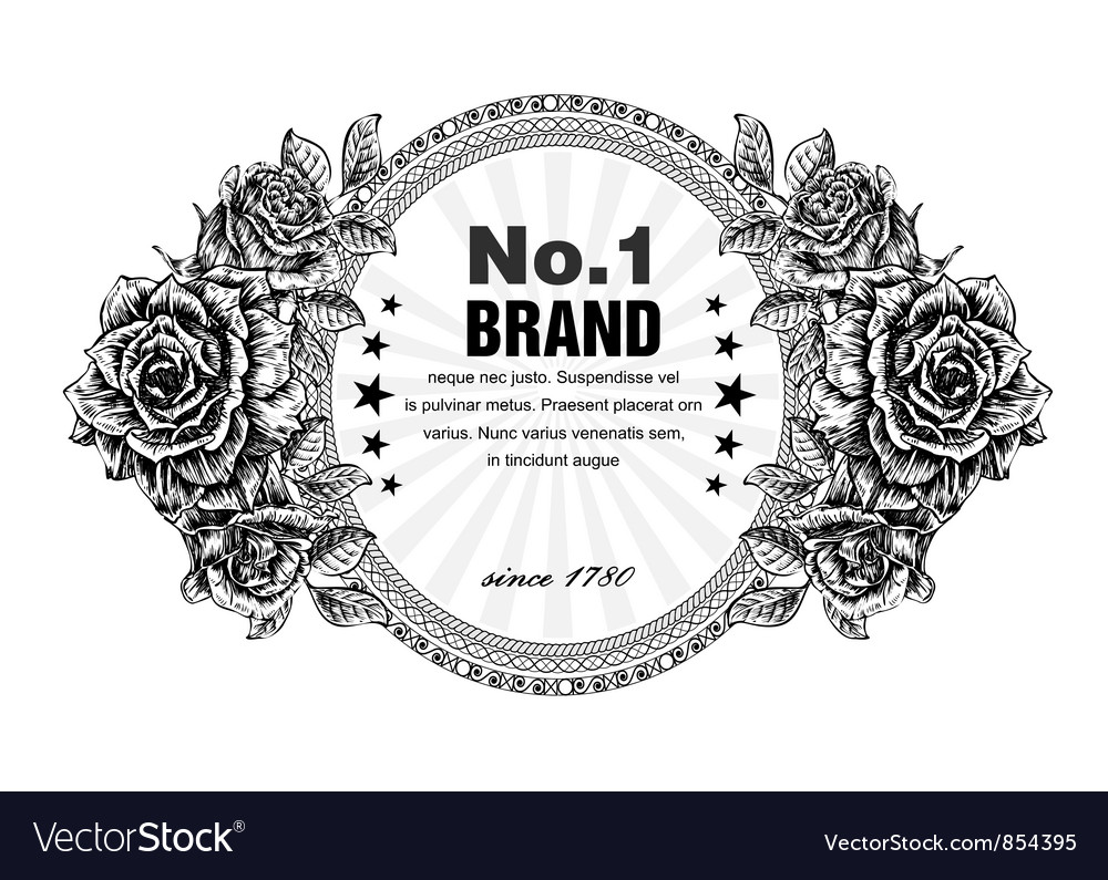 Free vintage label vector