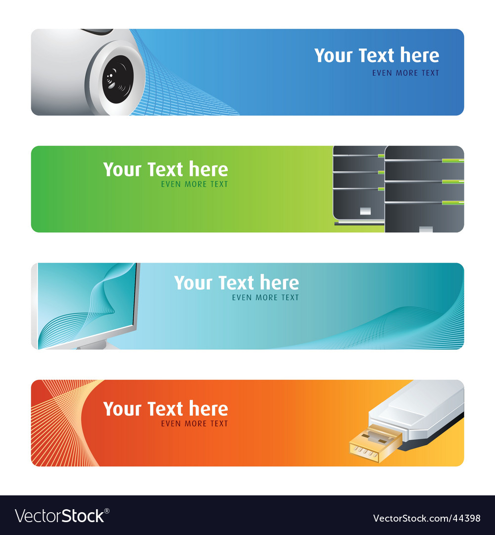 Hightech banner set vector
