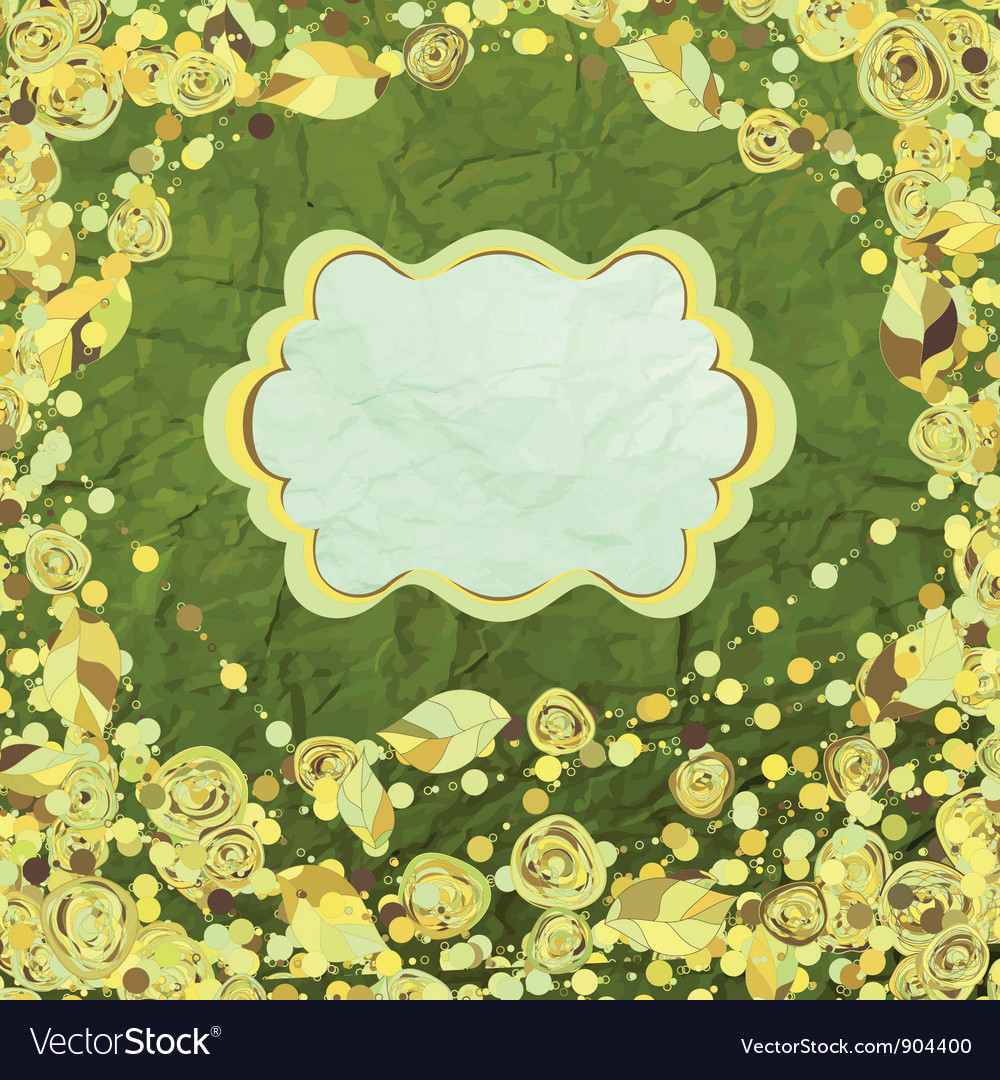 Vintage floral pattern card vector