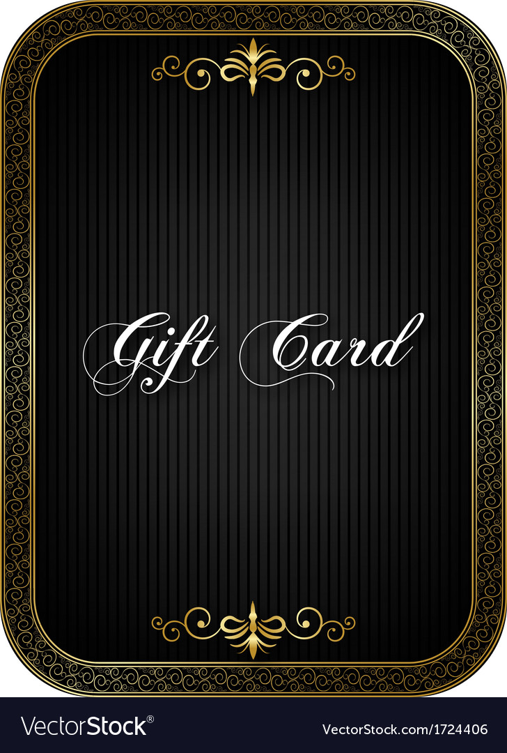 Gift card black vector