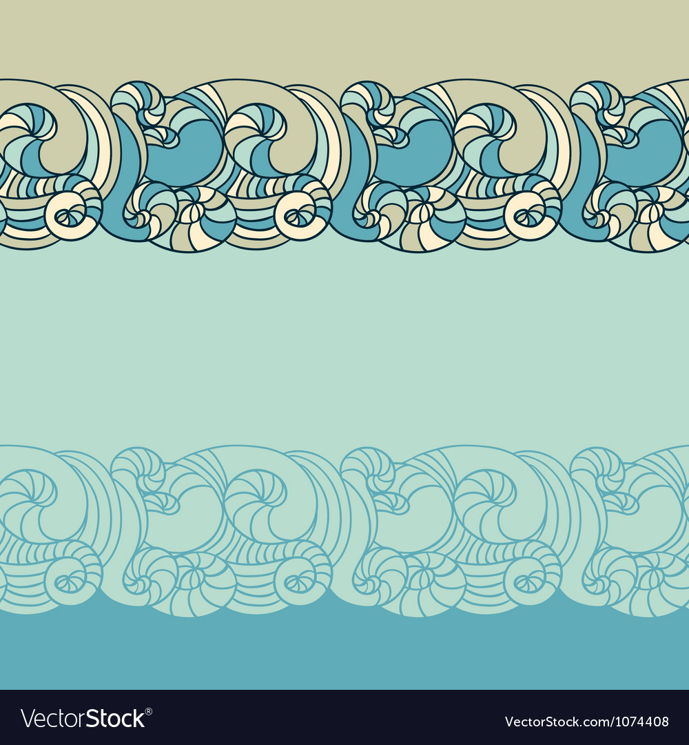 Wave patterns background vector