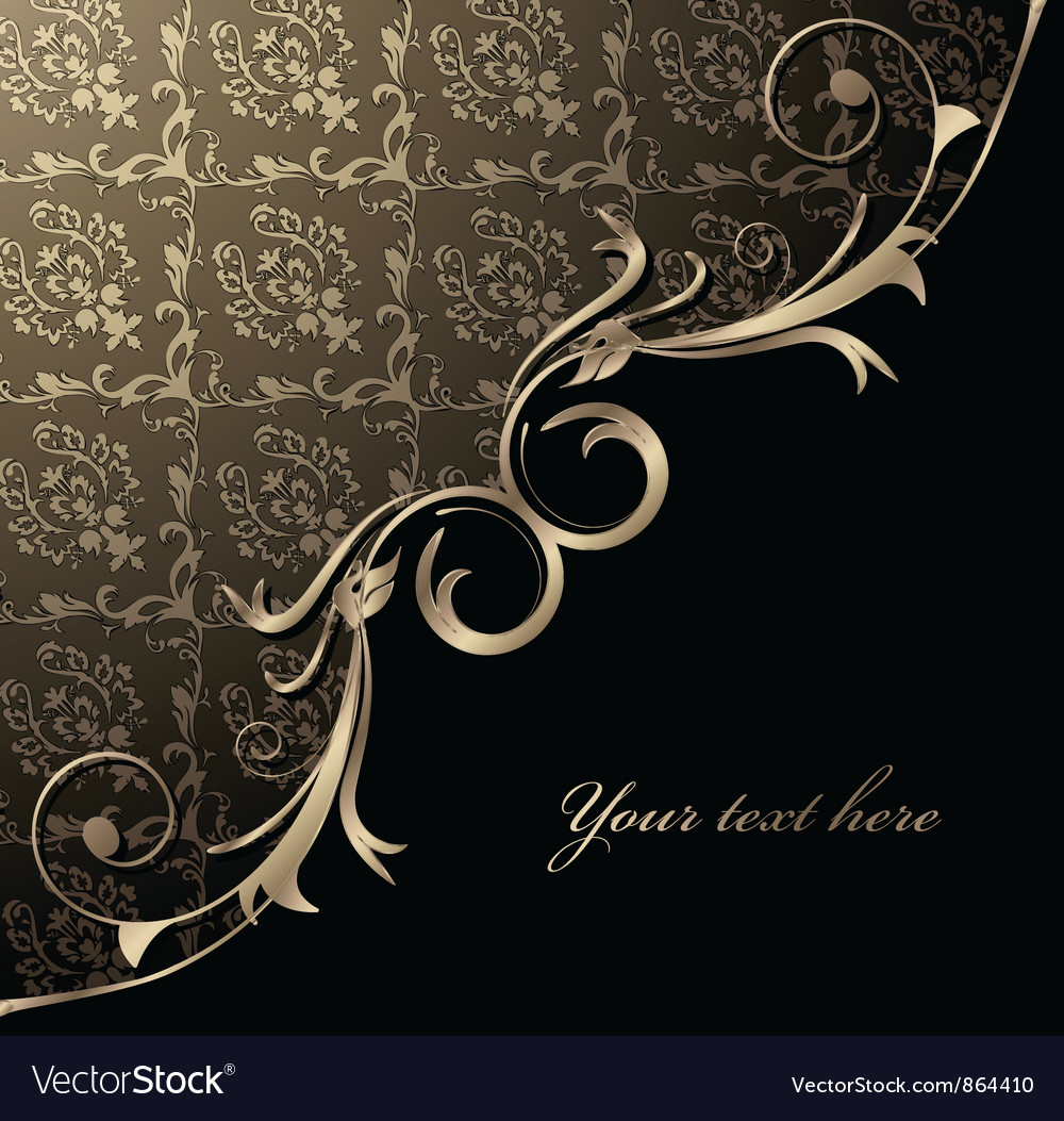 Free damask floral background vector