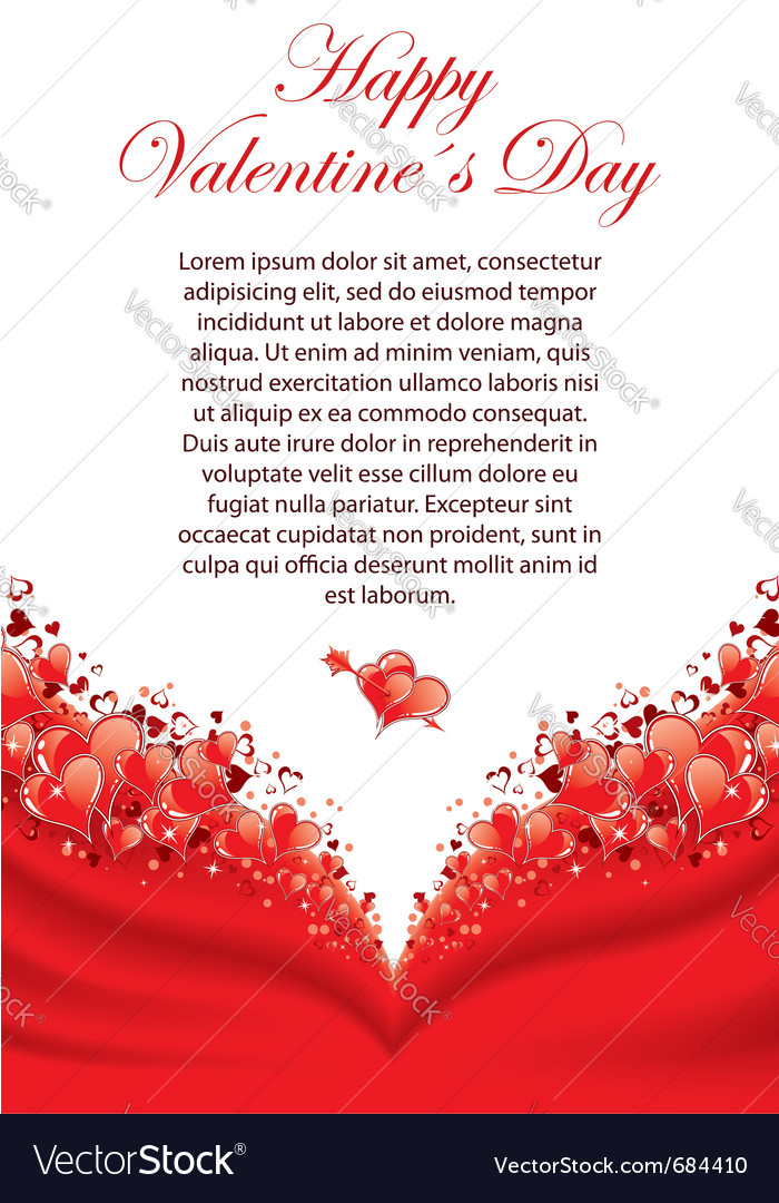 valentines day greeting card vector by talex  image, Greeting card