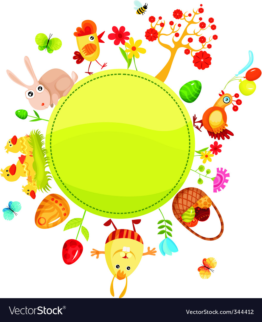 Easter card vector