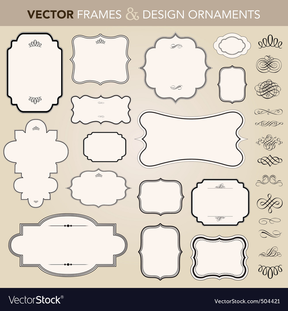 Design ornaments set vector