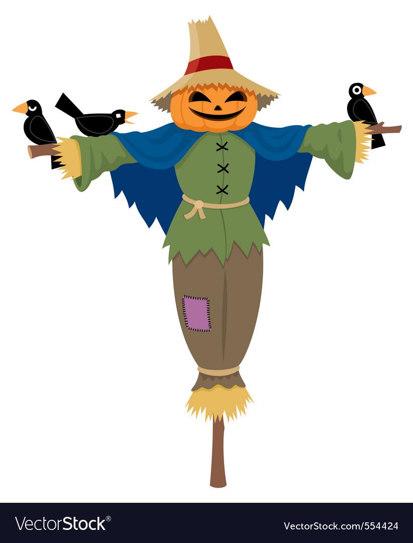 Scarecrow vector by Malchev - Image #554424 - VectorStock