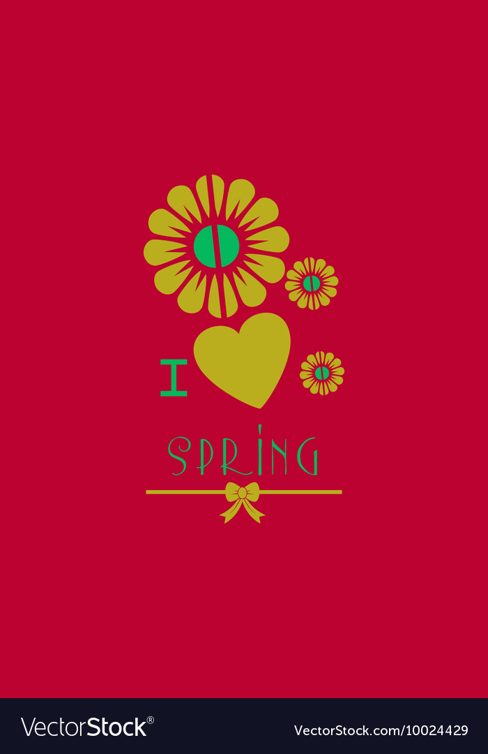 With heart flower spring and