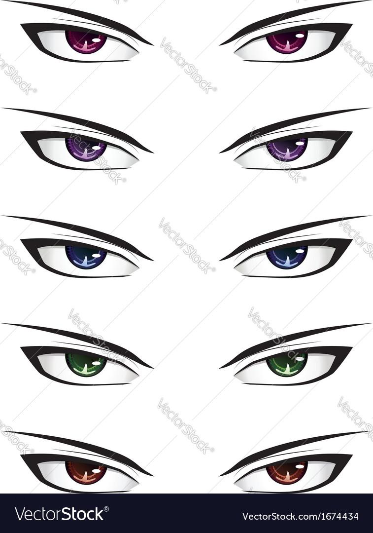 Phenomenal Anime Male Eyes2 Vector By Artshock Image 1674434 Vectorstock Hairstyles For Men Maxibearus