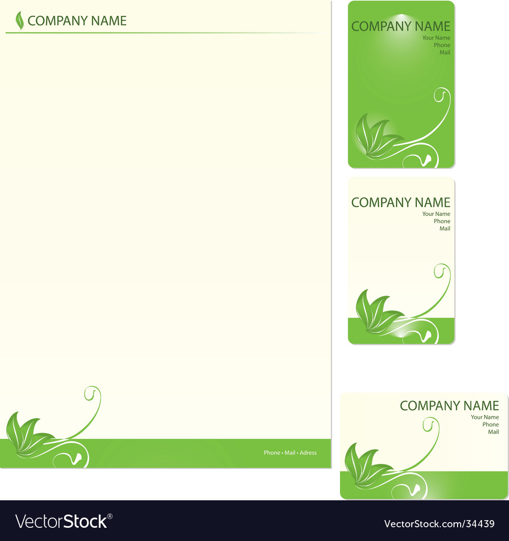 Business cards template vector