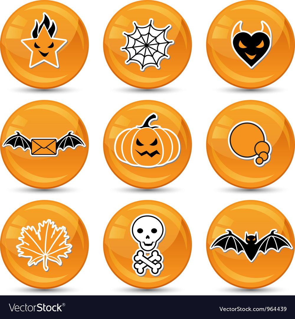 Glossy halloween icons