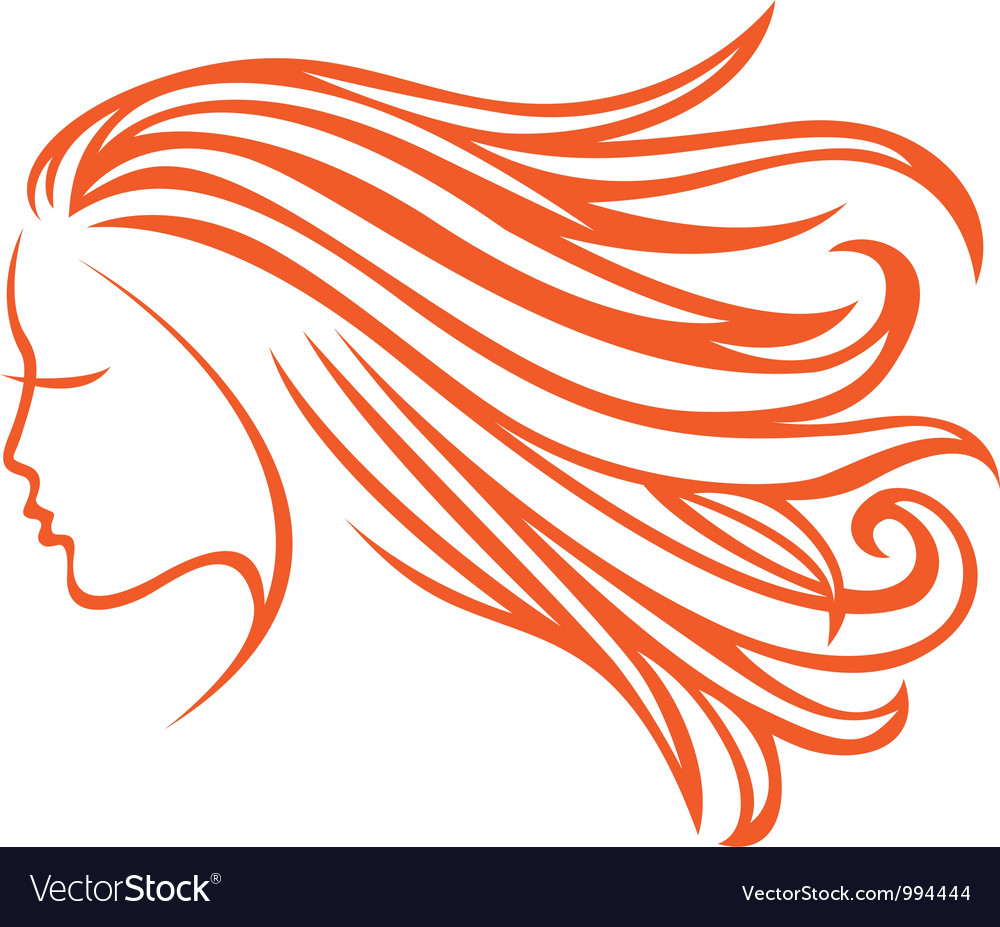Orange hair vector