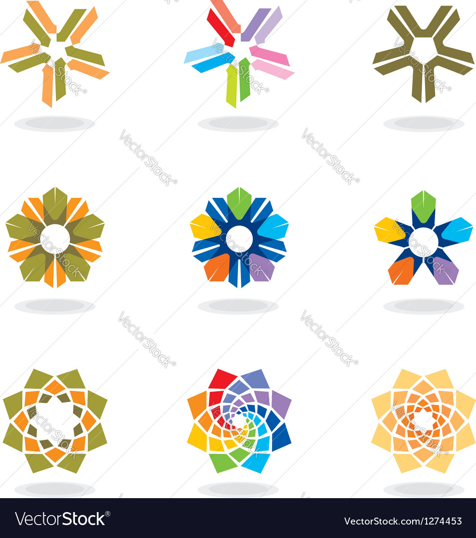 Corporate design elements vector