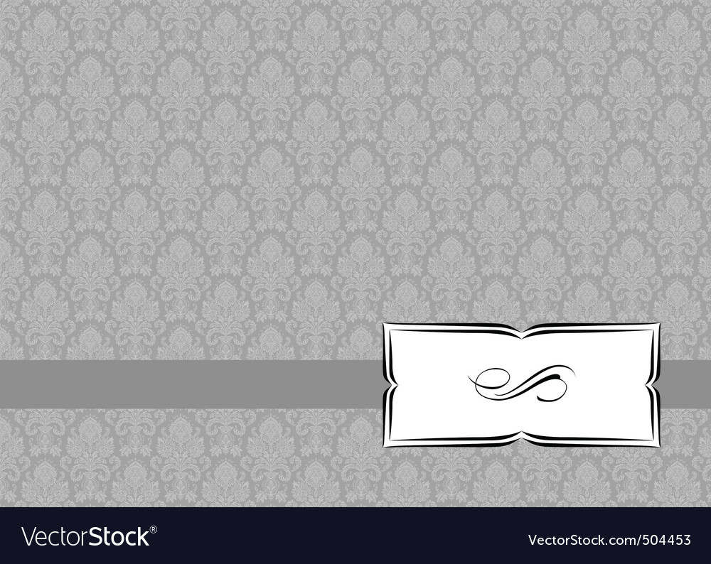 Small ribbon frame and background vector