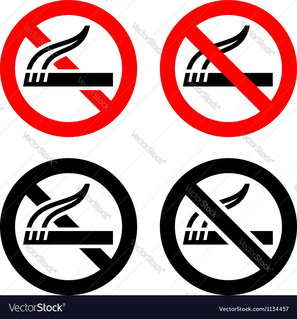 Set symbols  no smoking vector