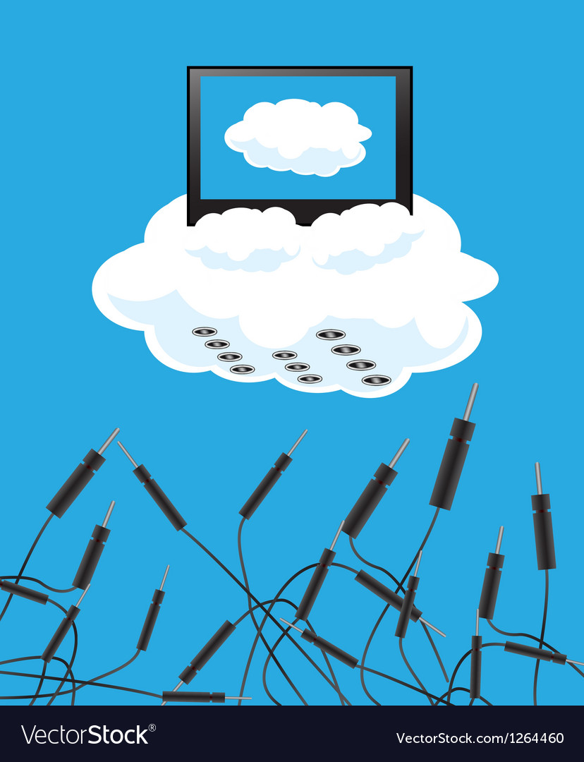 Cloudy technologies vector