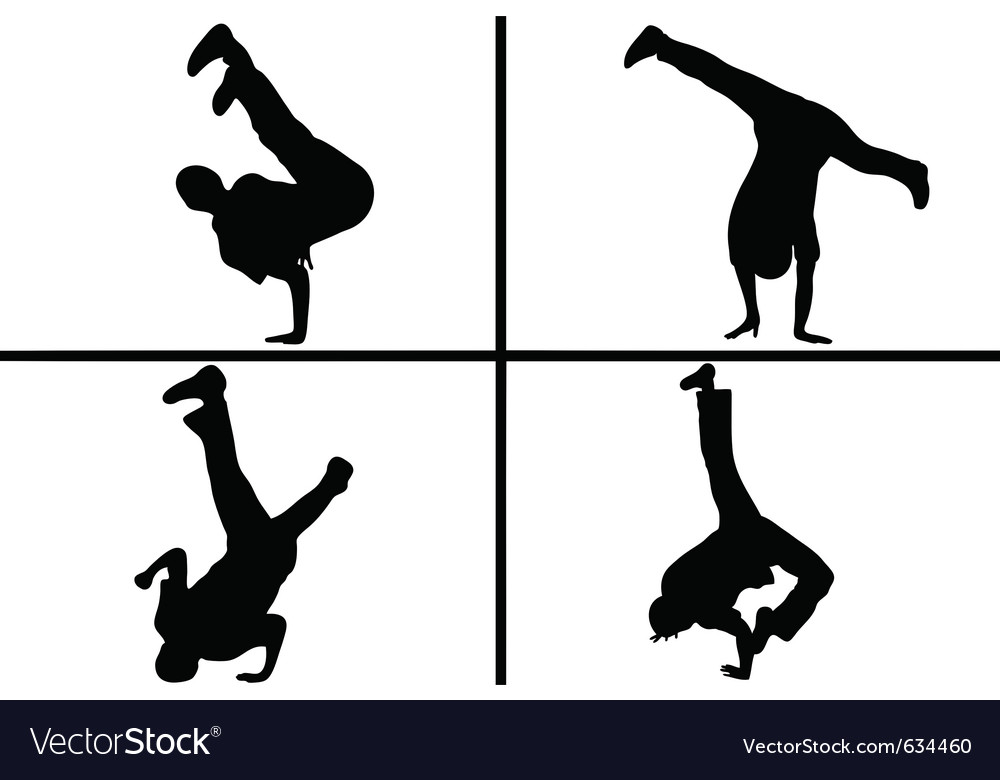 Streetdancer silhouette vector