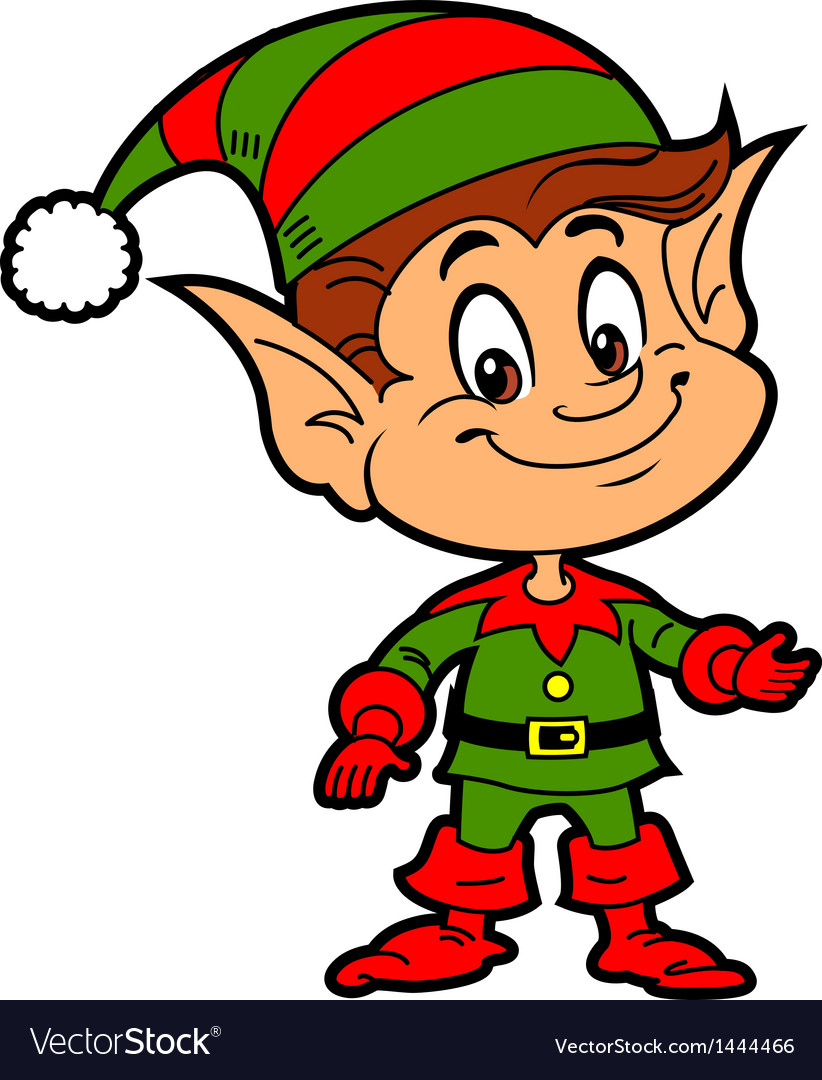 Christmas elf vector
