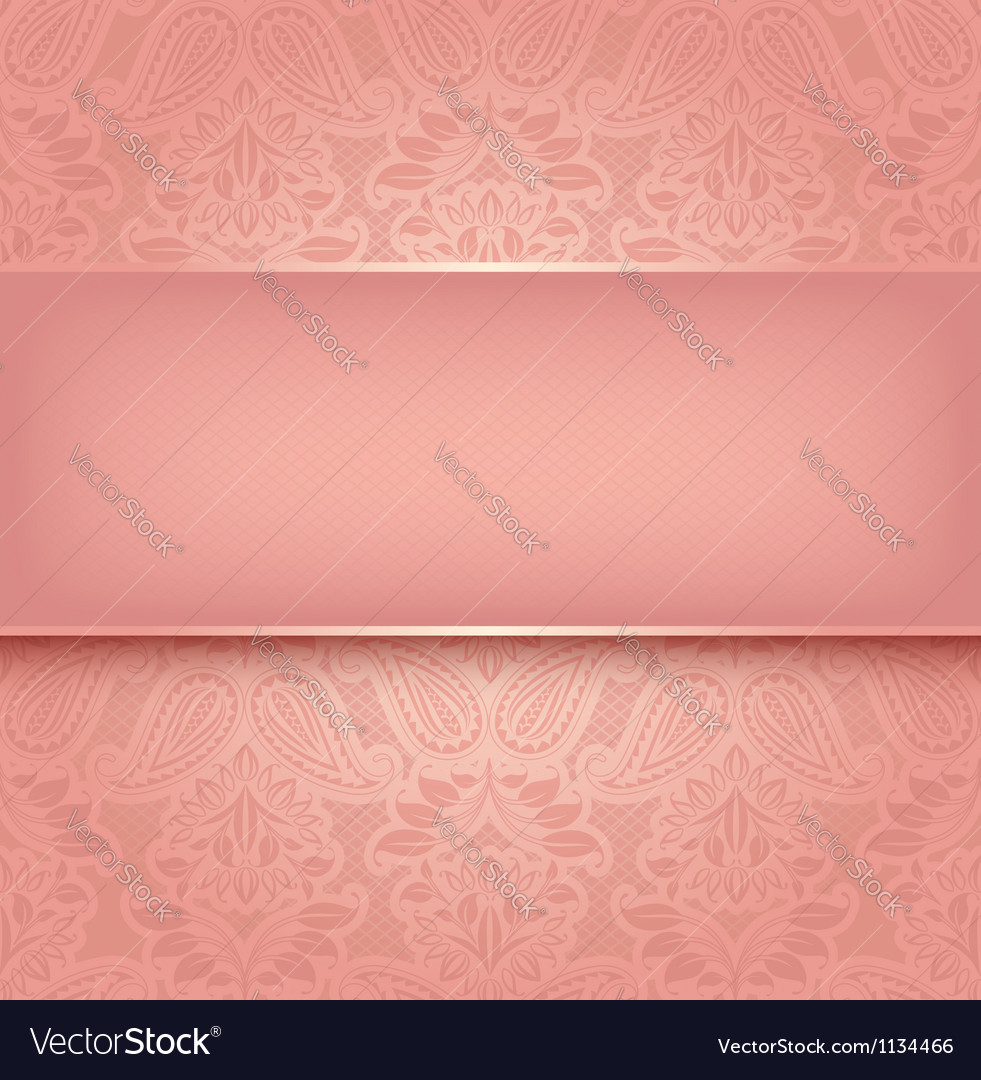 Decorative pink template  10eps vector
