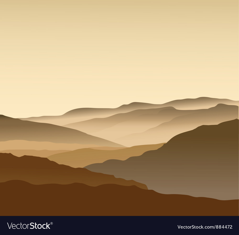 Mountains landscape vector