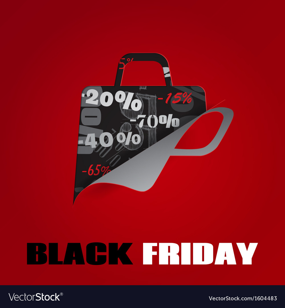 Background on black friday vector
