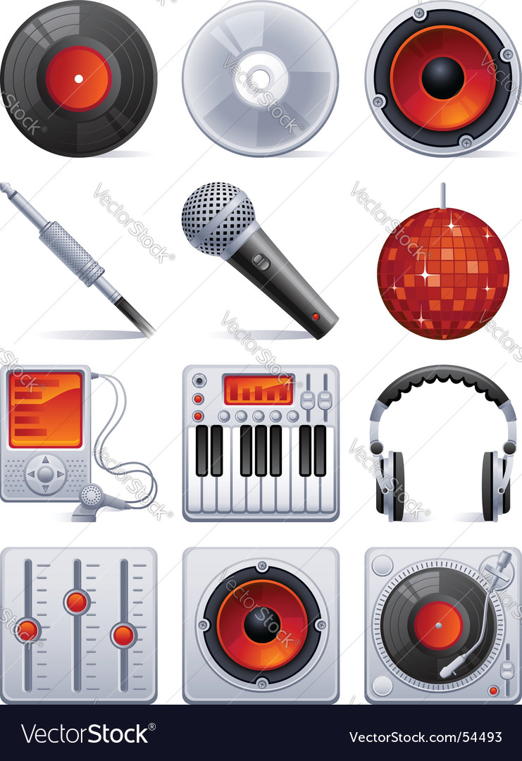 Sound icon set vector