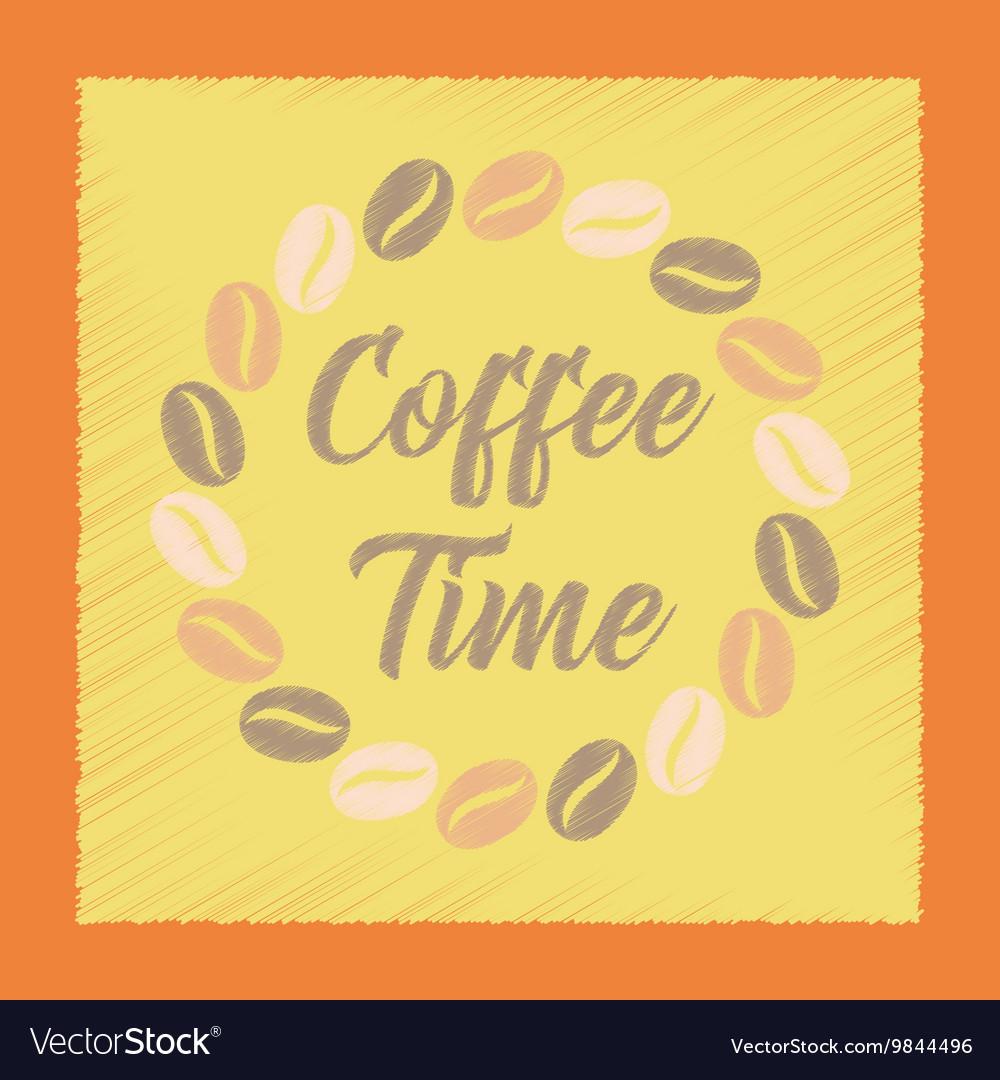 Flat shading style icon coffee time logo