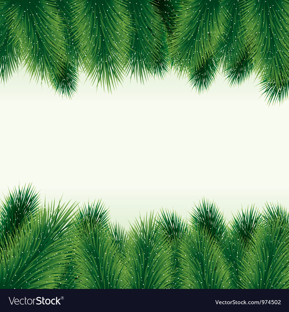 Decorative christmas tree background vector