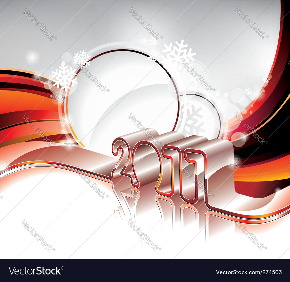 Happy new year 2011 design vector
