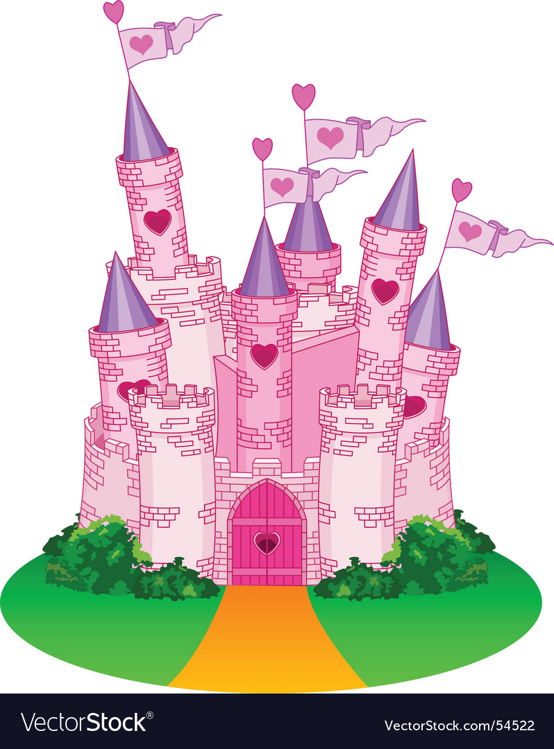 Princess castle vector