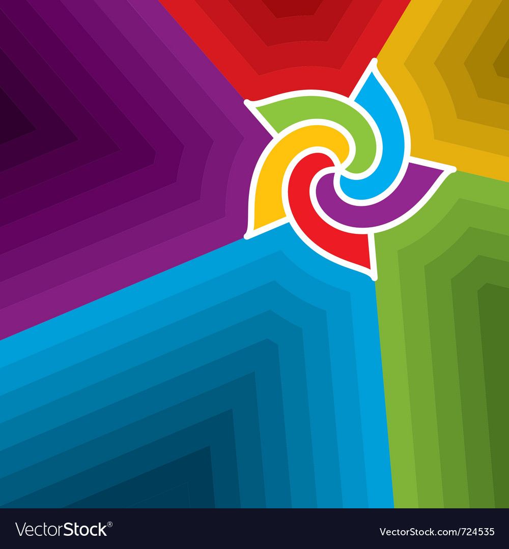Abstract wind wheel background vector