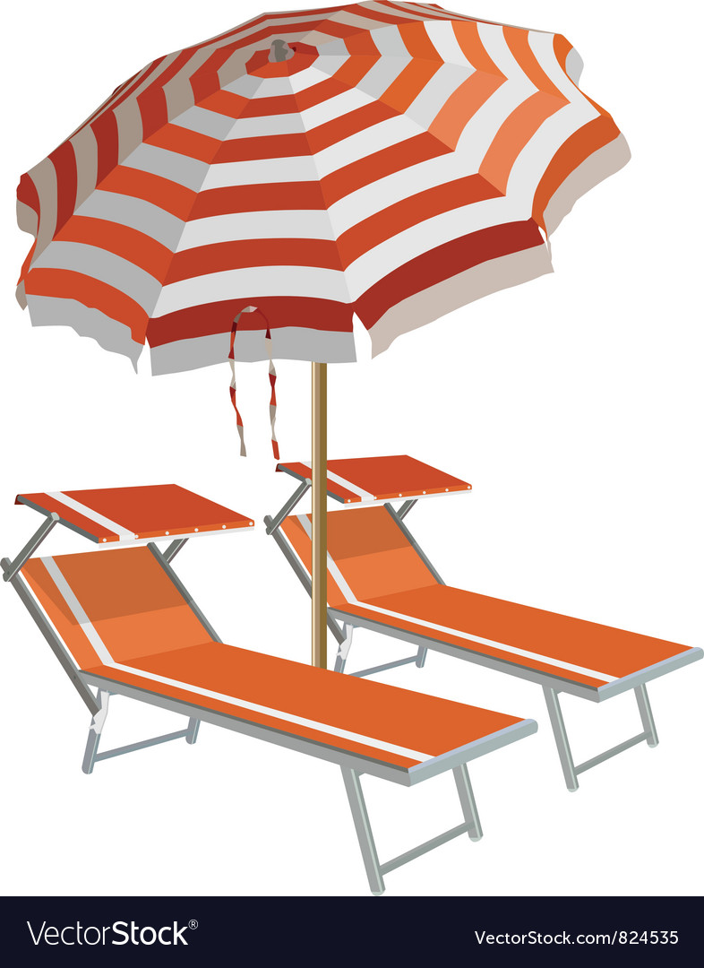 Relax on the beach vector