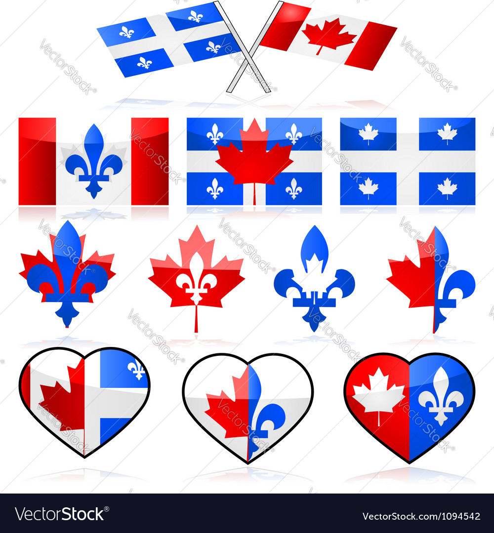Canada and quebec vector