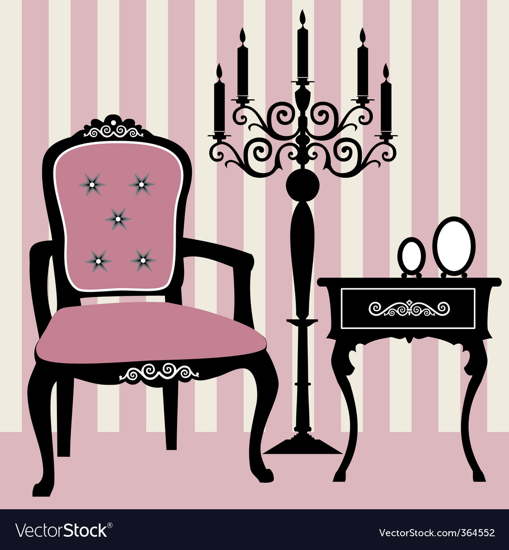 Antique interior vector
